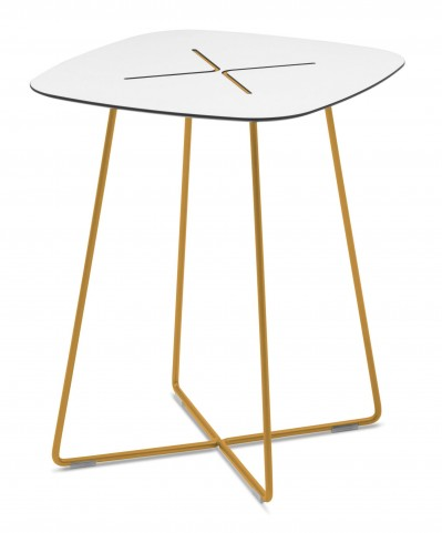 Cross Mustard High Coffee Square Table