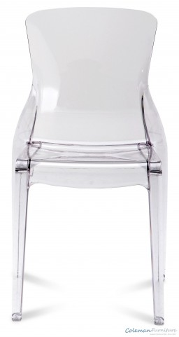 Crystal Transparent Side Chair Set of 4