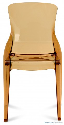 Crystal Transparent Amber Side Chair Set of 4