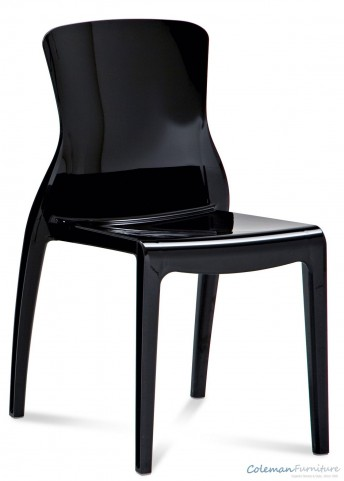 Crystal Black Side Chair Set of 4