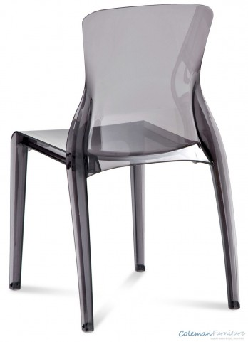 Crystal Transparent Smoke Side Chair Set of 4