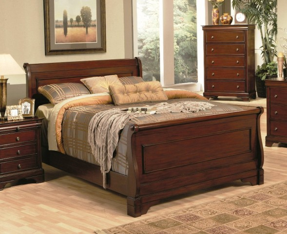 Versailles King Sleigh Bed - 20148