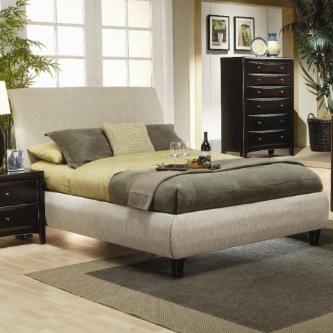 Phoenix Fabric King Platform Bed