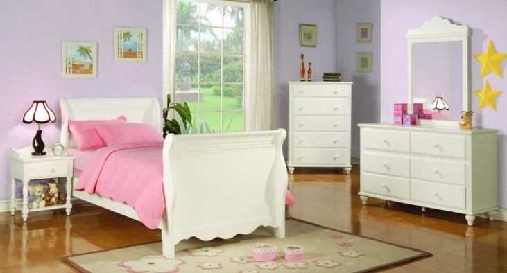 Pepper Sleigh Bedroom Set - 40036