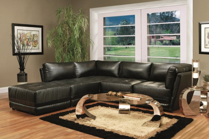 Black Modular Sectional - 500891