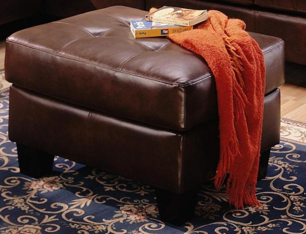 Samuel Brown Bonded Leather Ottoman 500912