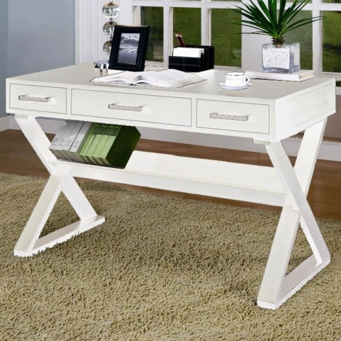 Home Office White Contemporary Desk - 800912