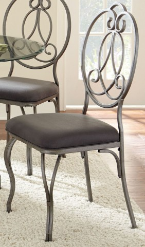Ceasar Dark Grey Upholstered Side Chair Set of 2