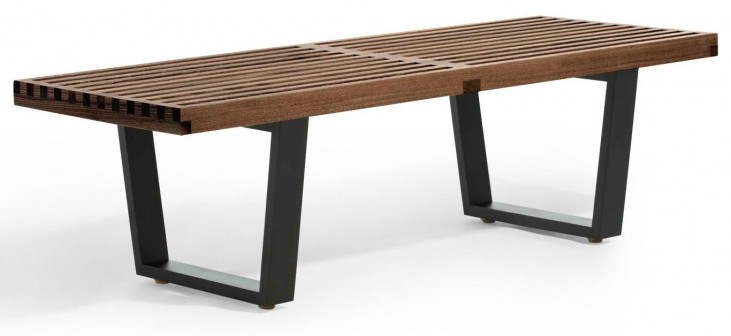 Modern Classics Slat Bench A Walnut Bench