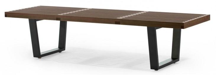 Modern Classics Slat Bench B Walnut Bench