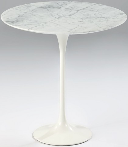 Modern Classics Catalina Italian Carrara Marble Top Side Table