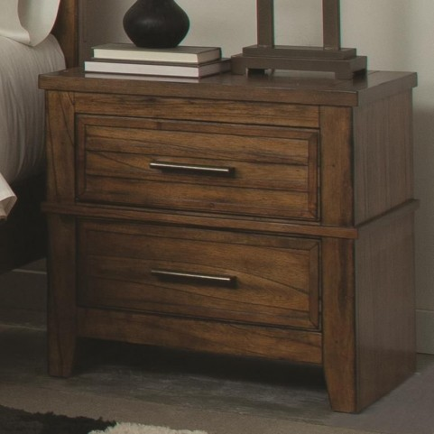 Cupertino Antique Amber 2 Drawer Nightstand