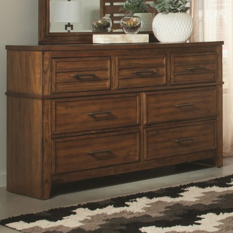 Cupertino Antique Amber 7 Drawer Dresser