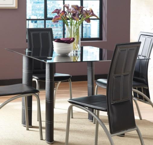 Calvin Glass Top Rectangular Dining Table