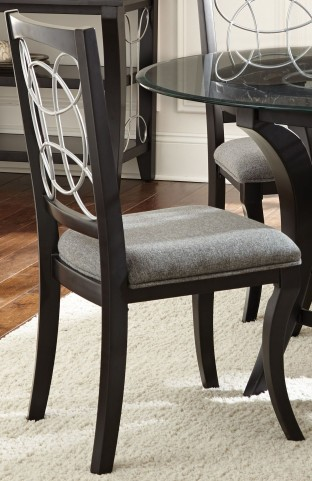 Cayman Grey Fabric Side Chair Set of 2
