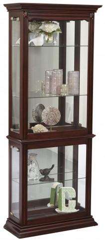 Large Cherry Mirrored Back Curio