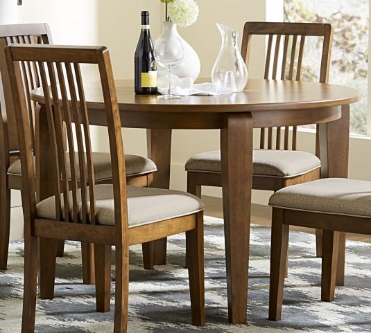 Mid-Mod Cinnamon Round Dining Table