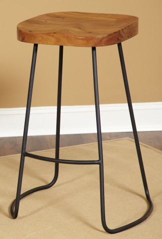 "Simplicity Natural Mango 30"" Backless Barstool"
