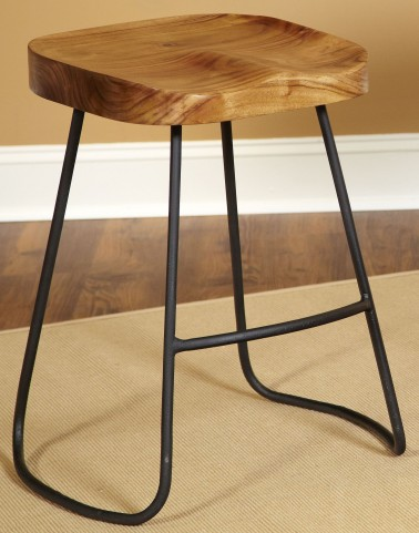"Simplicity Natural Mango 24"" Backless Counter Stool"