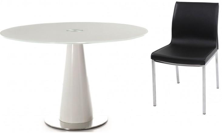 D207 Modern Round Dining Room Set