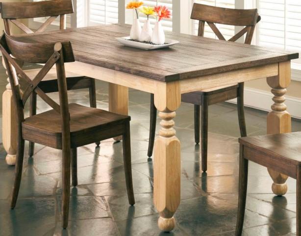 Coronado Rectangular Turned Leg Table