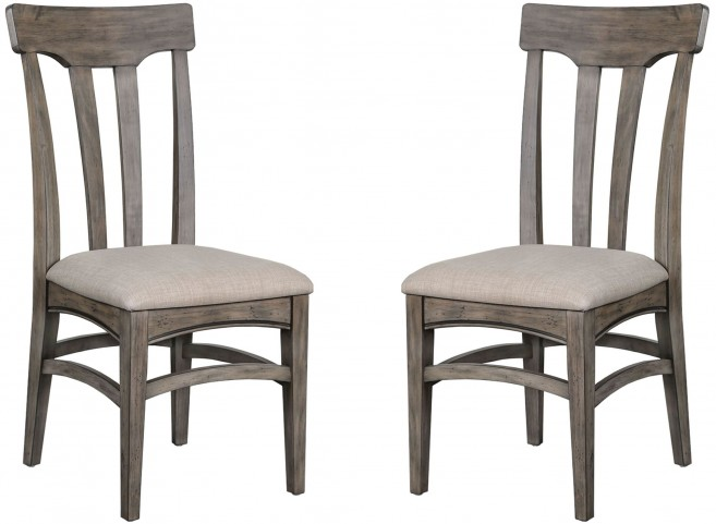 Walton Aged Dry Wood Dining Chair Set of 2