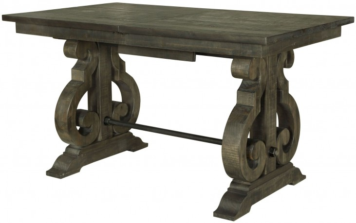 Bellamy Deep Weathered Pine Rectangular Counter Dining Table
