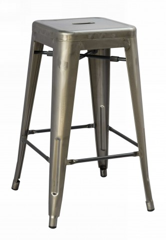 Stovall Industrial Gun Metal Dining Stool Set of 4