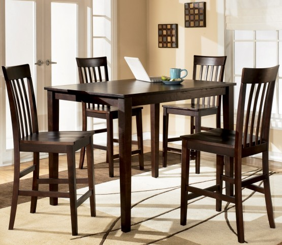 Hyland 5 Piece Counter Height Dinette Set