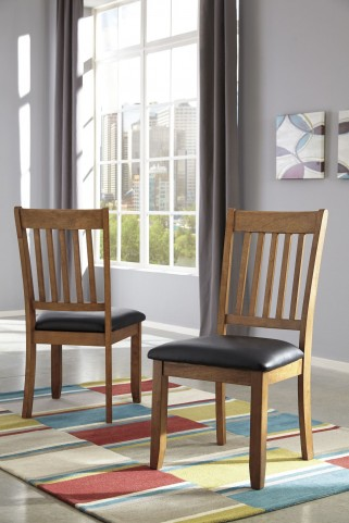 Joveen Black/Brown Dining Upholstered Side Chair Set Of 2