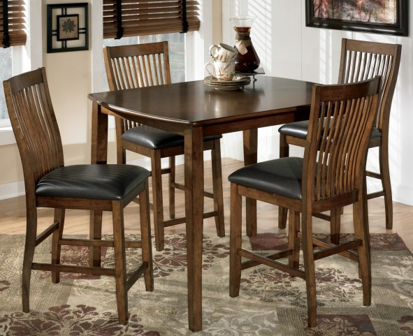 Stuman 5 Piece Rectangular Dining Room Counter Table Set