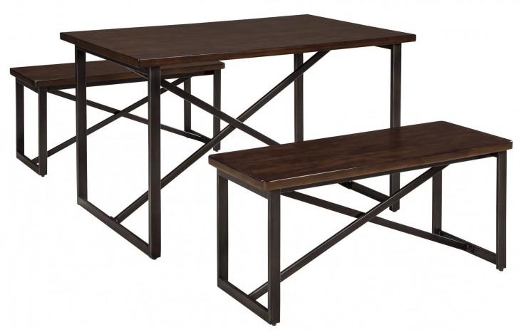 Joring 3 Piece Rectangular Dining Room Table Set