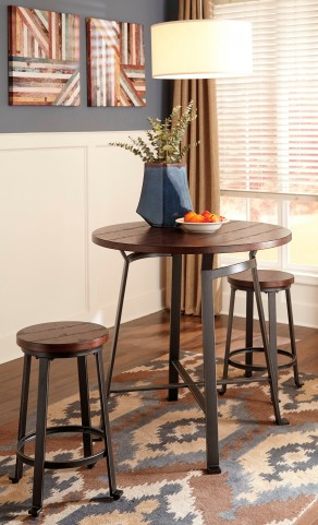 Challiman Round Counter Height Dining Room Set