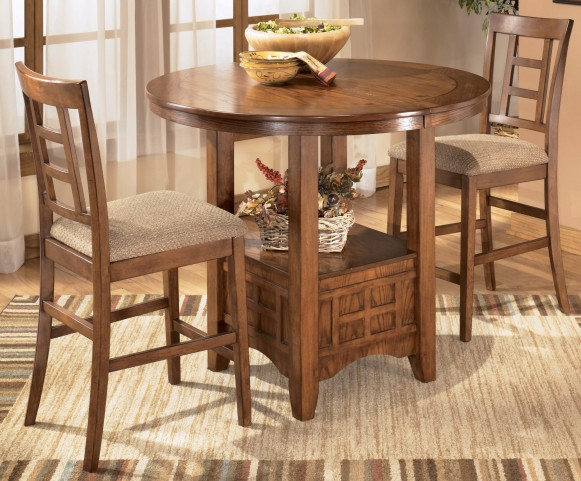 Cross Island Oval Counter Height Extendable Dining Room Set
