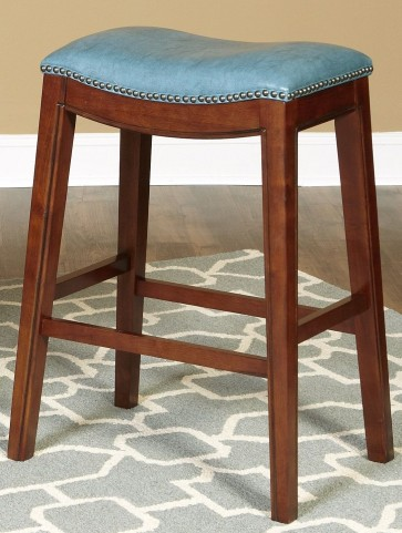 "Fiesta Blue 30"" Backless Barstool"