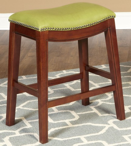 "Fiesta Green 30"" Backless Barstool"