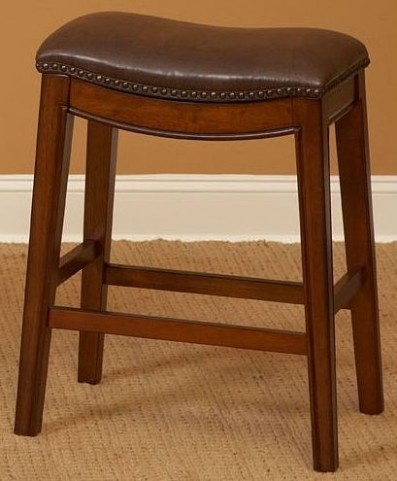 "Fiesta Light Brown 30"" Backless Barstool"
