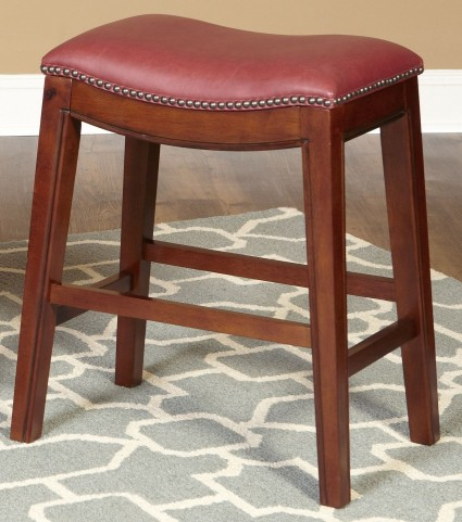 "Fiesta Red 30"" Backless Red Barstool"