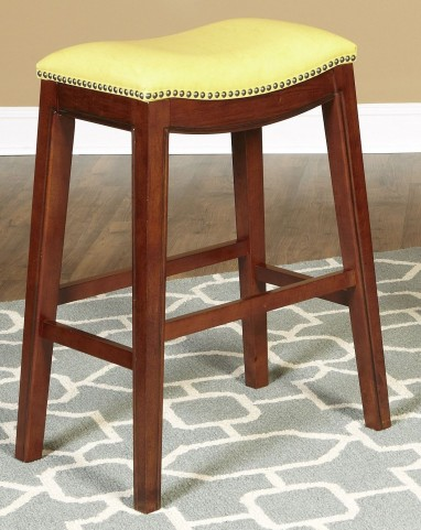 "Fiesta Yellow 24"" Backless Counter Stool"