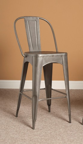 "Timbuktu 30"" Rubbed Steel Bar Stool"