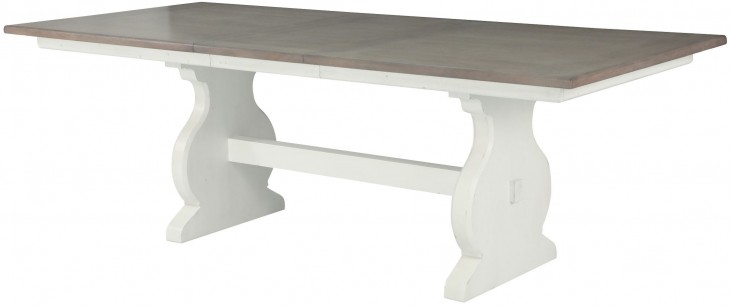 Hancock Park Vintage White Rectangular Dining Table