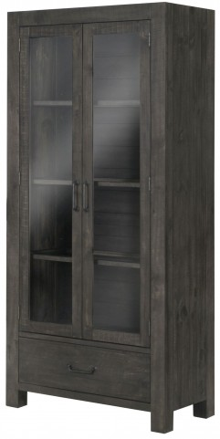 Abington Weathered Charcoal Curio Cabinet