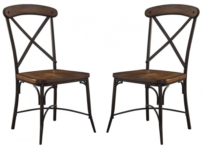 Rolena Brown Dining Room Side Chair Set Of 2