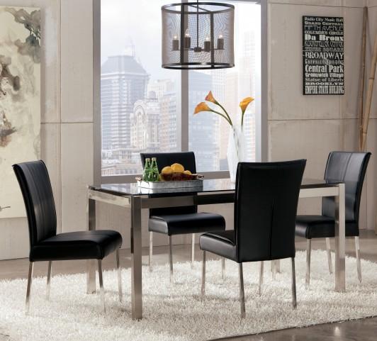 Baraga Black Rectangular Dining Room Set