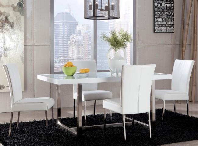 Baraga White Rectangular Dining Room Set
