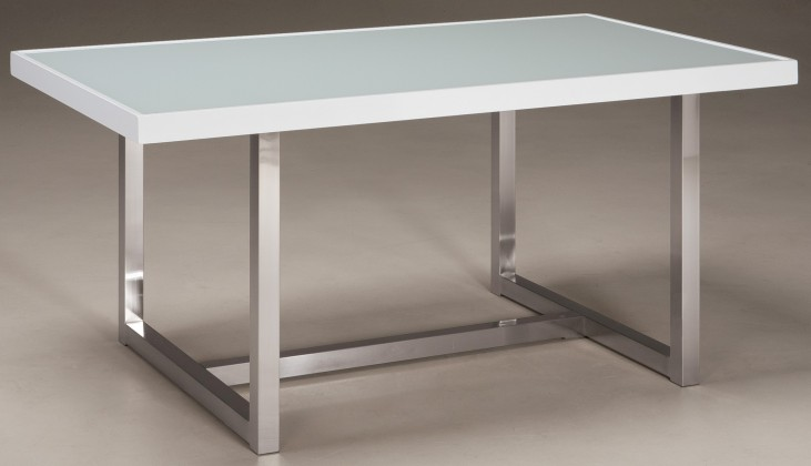 Baraga White Rectangular Dining Room Table
