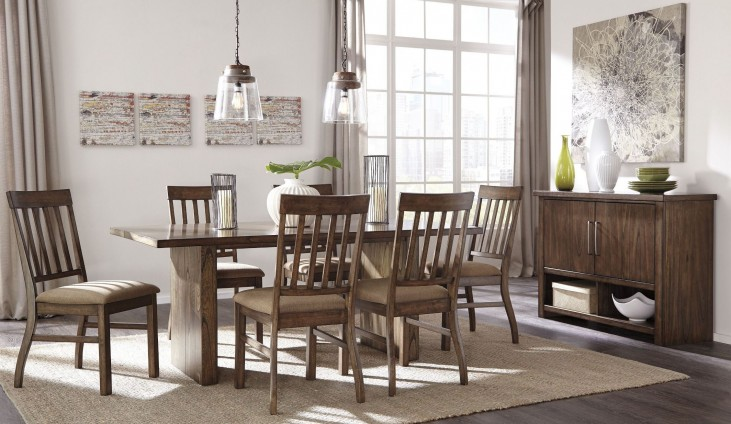 Zilmar Brown Rectangular Dining Room Set