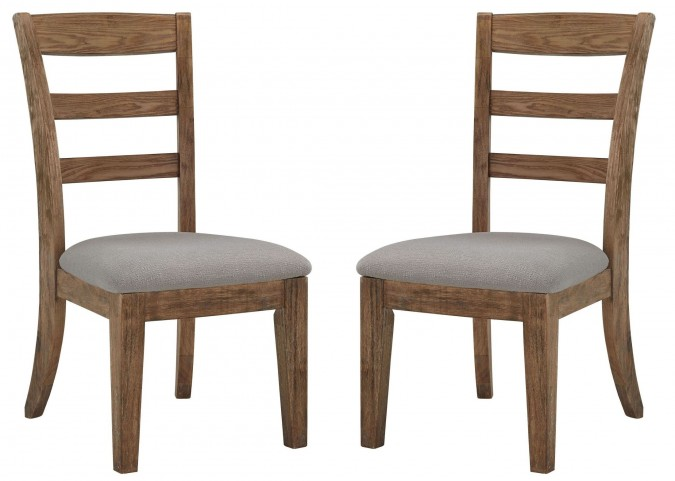 Danimore Light Brown/Light Gray Upholstered Side Chair Set Of 2