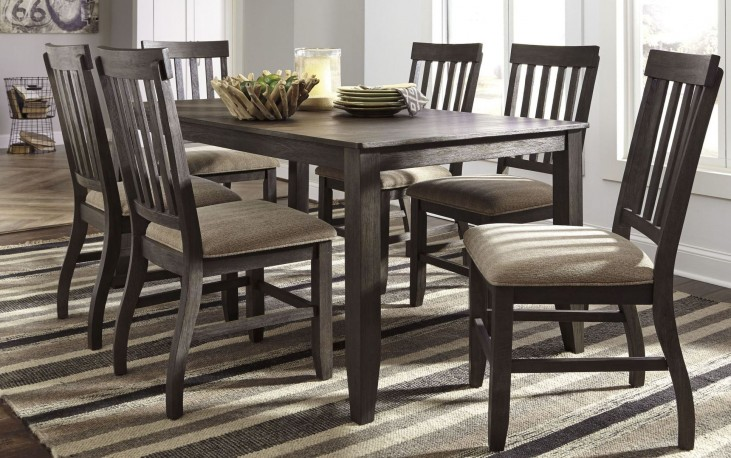 Dresbar Grayish Brown Rectangular Dining Room Set