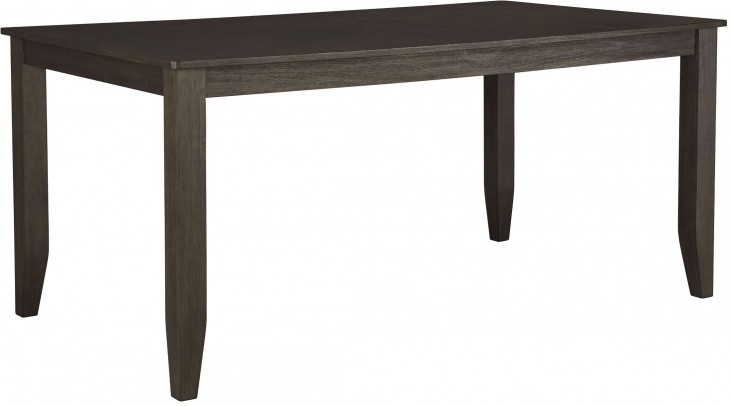 Dresbar Grayish Brown Rectangular Dining Table
